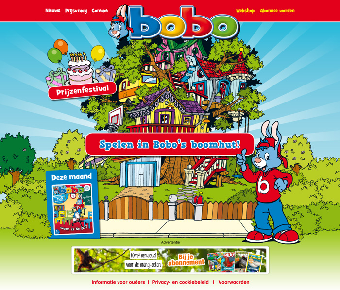 bobo homepage blink uitgevers webdesign