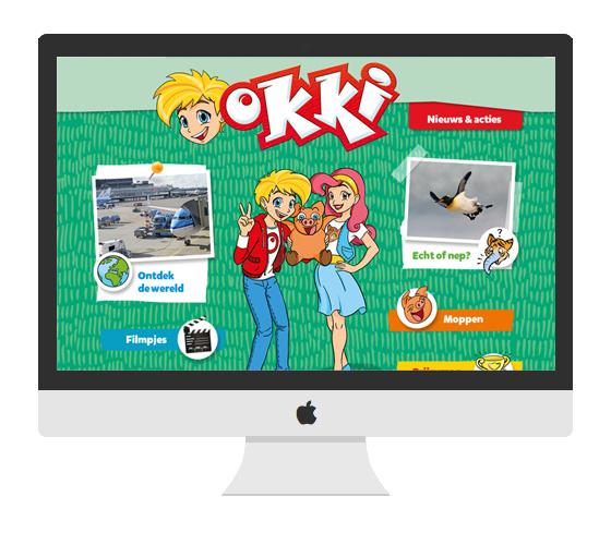 Okki - Blink uitgevers webdesign